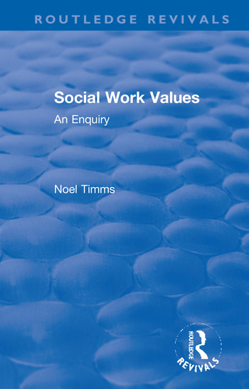 Social Work Values An Enquiry book cover