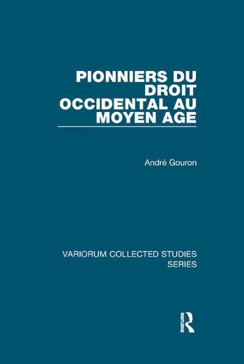 Pionniers du droit occidental au Moyen Age book cover