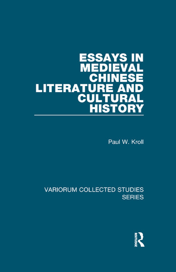 Essays in Medieval Chinese Literature and Cultural History book cover