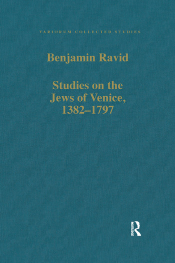 Studies on the Jews of Venice, 1382–1797 book cover