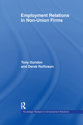 Employment Relations in Non-Union Firms book cover