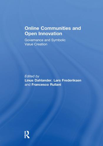 Online Communities and Open Innovation Governance and Symbolic Value Creation book cover