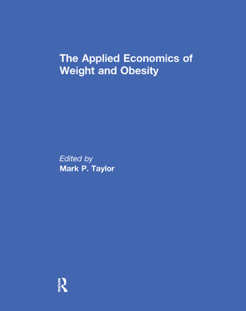 The Applied Economics of Weight and Obesity book cover