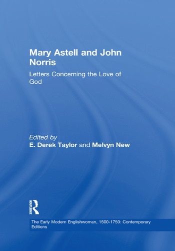 Mary Astell and John Norris Letters Concerning the Love of God book cover