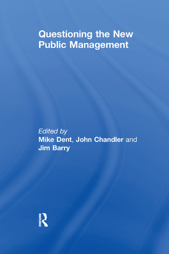 Questioning the New Public Management book cover
