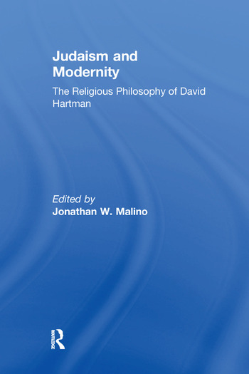 Judaism and Modernity The Religious Philosophy of David Hartman book cover