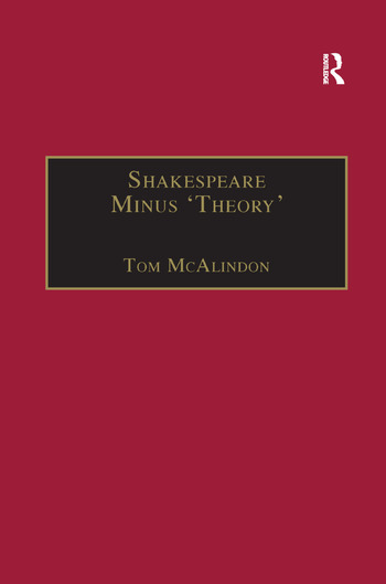 Shakespeare Minus 'Theory' book cover