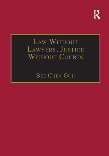 Law Without Lawyers, Justice Without Courts On Traditional Chinese Mediation book cover