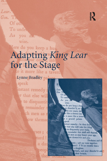 Adapting King Lear for the Stage book cover