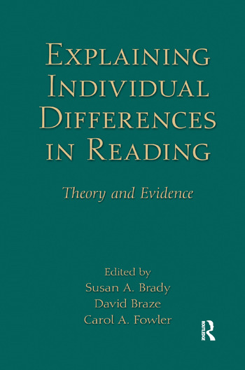 Explaining Individual Differences in Reading Theory and Evidence book cover