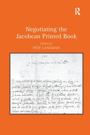 Negotiating the Jacobean Printed Book book cover