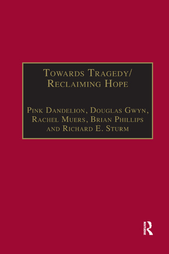 Towards Tragedy/Reclaiming Hope Literature, Theology and Sociology in Conversation book cover