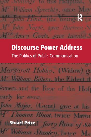 Discourse Power Address The Politics of Public Communication book cover