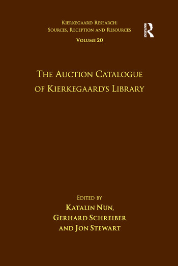 Volume 20: The Auction Catalogue of Kierkegaard's Library book cover