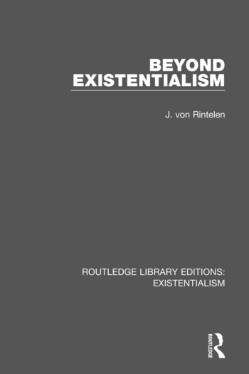 Routledge Library Editions: Existentialism book cover