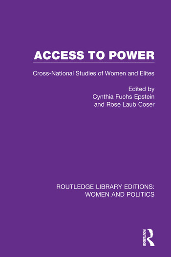 Access to Power Cross-National Studies of Women and Elites book cover