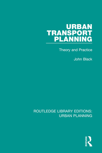Urban Transport Planning Theory and Practice book cover
