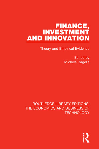 Finance, Investment and Innovation Theory and Empirical Evidence book cover