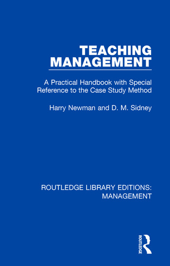 Teaching Management A Practical Handbook with Special Reference to the Case Study Method book cover