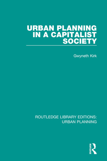 Urban Planning in a Capitalist Society book cover