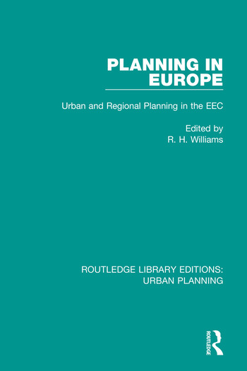 Planning in Europe Urban and Regional Planning in the EEC book cover