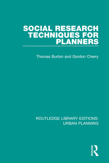 Social Research Techniques for Planners book cover