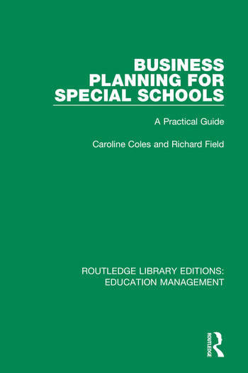 Business Planning for Special Schools A Practical Guide book cover