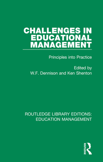 Challenges in Educational Management Principles into Practice book cover