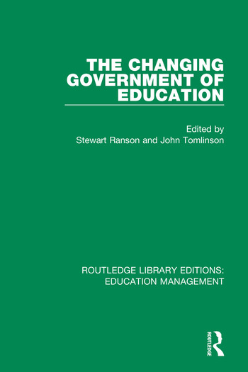 The Changing Government of Education book cover