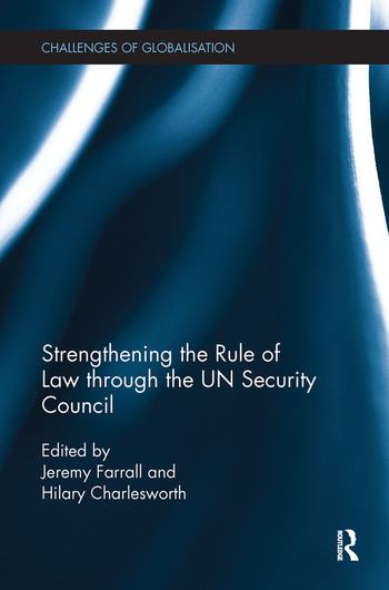 Strengthening the Rule of Law through the UN Security Council book cover