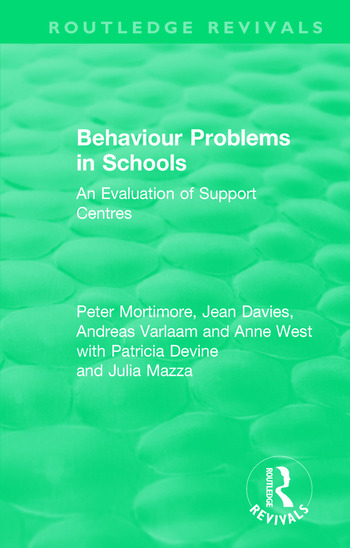 Behaviour Problems in Schools An Evaluation of Support Centres book cover