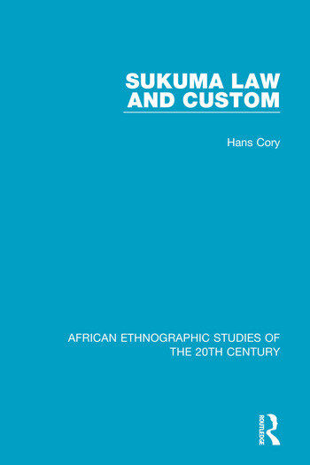 Sukuma Law and Custom book cover