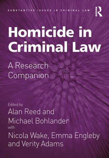 Homicide in Criminal Law A Research Companion book cover