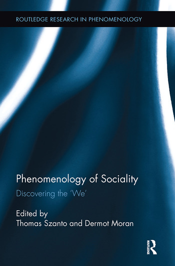 Phenomenology of Sociality Discovering the 'We' book cover