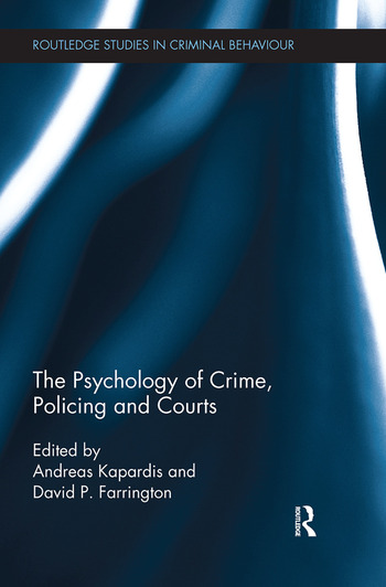 The Psychology of Crime, Policing and Courts book cover