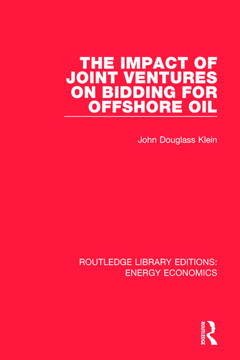 The Impact of Joint Ventures on Bidding for Offshore Oil book cover