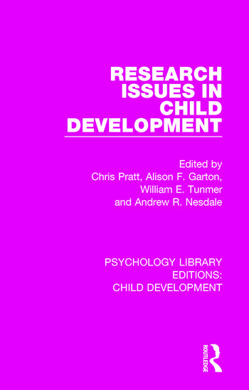 Research Issues in Child Development book cover
