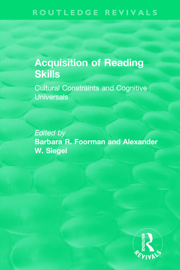 Acquisition of Reading Skills (1986) Cultural Constraints and Cognitive Universals book cover