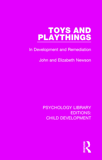 Toys and Playthings In Development and Remediation book cover