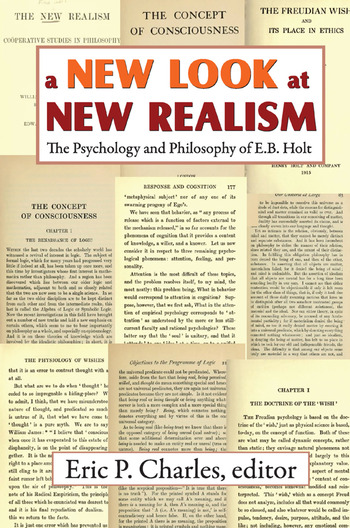 A New Look at New Realism The Psychology and Philosophy of E. B. Holt book cover