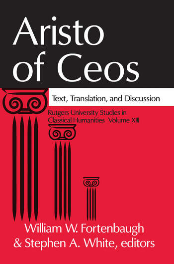 Aristo of Ceos Text, Translation, and Discussion book cover