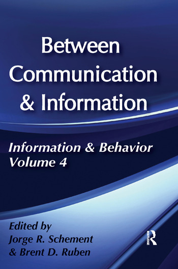 Between Communication and Information book cover