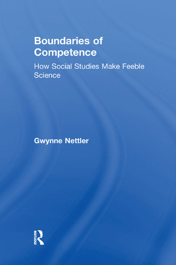 Boundaries of Competence Knowing the Social with Science book cover