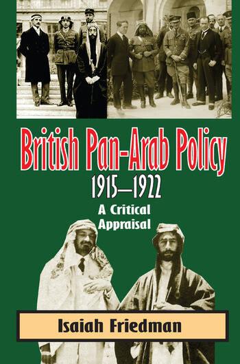 British Pan-Arab Policy, 1915-1922 book cover