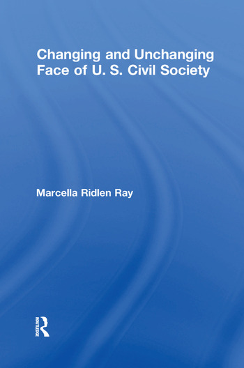 Changing and Unchanging Face of U.S. Civil Society book cover