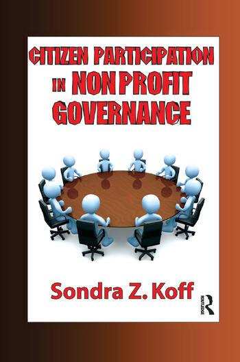 Citizen Participation in Non-profit Governance book cover