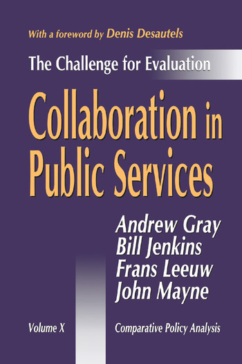 Collaboration in Public Services The Challenge for Evaluation book cover