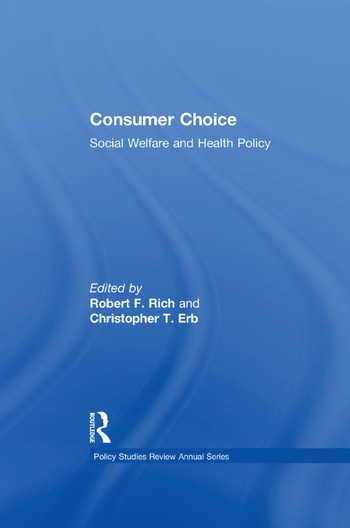 Consumer Choice Social Welfare and Health Policy book cover