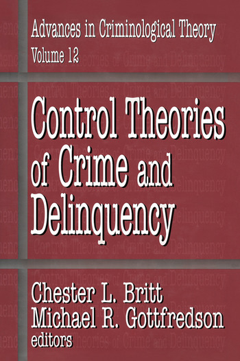 Control Theories of Crime and Delinquency book cover
