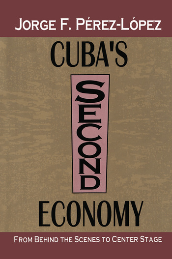 Cuba's Second Economy From behind the Scenes to Center Stage book cover